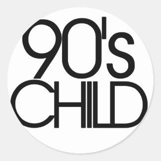 90s child classic round sticker