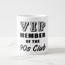 90's Club Birthday Large Coffee Mug
