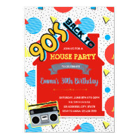 90s House Party Invitation