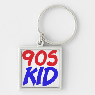 90s Kid Silver-Colored Square Keychain