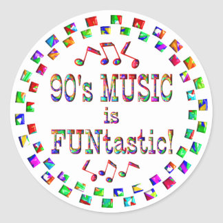 90s Music is FUNtastic Stickers
