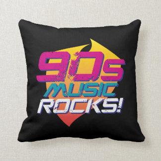 90s Music Rocks! (Light) Throw Pillow