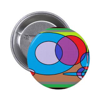 90s Paint Designs Pinback Button
