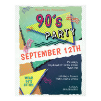 90's PARTY Theme Pattern Flyer