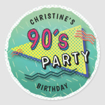 90's PARTY Theme Pattern Stickers