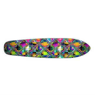 90's Rainbow Tile Art Skateboard Deck
