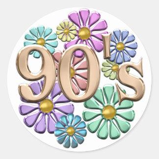 90s Retro Round Stickers