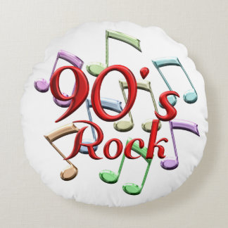 90s Rock Round Pillow
