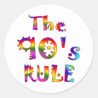 90s Rule Classic Round Sticker