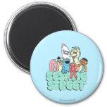 90's Sesame Street Vintage Surf 2 Inch Round Magnet