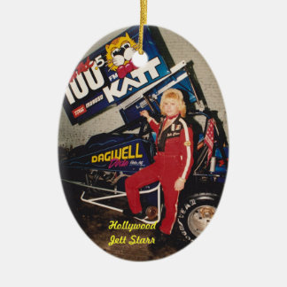 "90'S Sprint Dirt Champion Hollywood ""Jett Starr"" Christmas Tree Ornament"