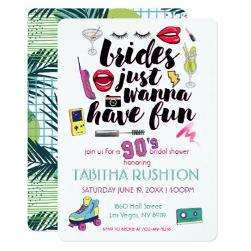Wedding Themed 90s Throwback Bridal Shower Card