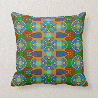 90s tribal pattern pillow