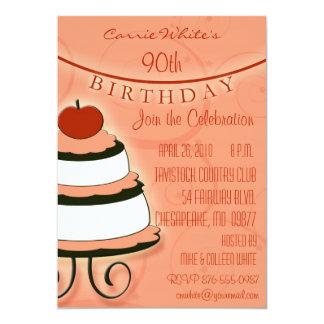 "90th - 99th  Birthday Party Invitations 5"" X 7"" Invitation Card"