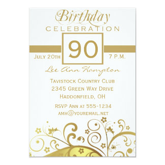 90th - 99th Birthday Party Invitations
