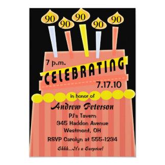 "90th - 99th Birthday Party Personalized Invitation 5"" X 7"" Invitation Card"