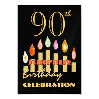 90th - 99th SURPRISE Birthday Party Invitation