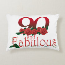 "90th birthday Accent Pillow 16"" x 12"""