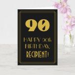 "[ Thumbnail: 90th Birthday – Art Deco Inspired Look ""90"" & Name Card ]"