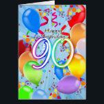 """90th Birthday - Balloon Birthday Card - Happy Birt<br><div class=""""desc"""">90th Birthday - Balloon Birthday Card - Happy Birthday Balloons</div>"""