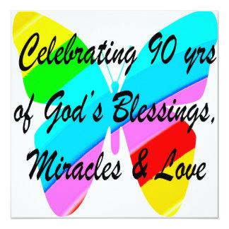 90TH BIRTHDAY BLESSING CARD