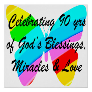90TH BIRTHDAY BLESSING POSTER