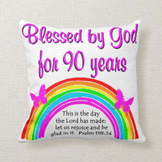 90TH BIRTHDAY BLESSING THROW PILLOW