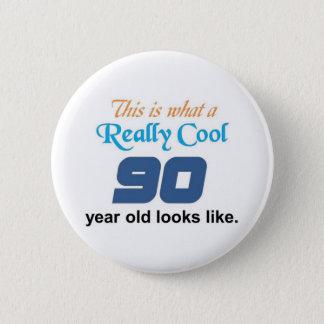 90th Birthday Button
