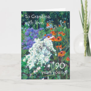 90th Birthday Card For A Grandmother