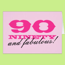 90th Birthday card for women | 90 and fabulous!