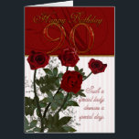 """90th Birthday Card With Roses<br><div class=""""desc"""">90th Birthday Card With Roses</div>"""