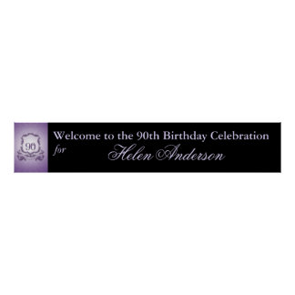 90th Birthday Celebration Custom Banner poster