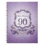 90th Birthday Celebration Custom Framed Guest Book Spiral Note Book