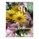 90th Birthday Celebration!-Party/Floral Bouquet Card