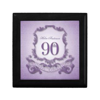 90th Birthday Celebration Personalized keepsake Jewelry Box
