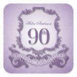 90th Birthday Celebration Personalized Stickers