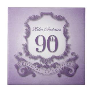 90th Birthday Celebration Personalized Tile