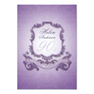 90th Birthday Celebration Vintage Frame Invitation