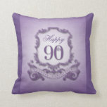 90th Birthday Celebration with Message (back) Pillow