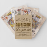 90th Birthday Celebration World Best Fabulous Bicycle Playing Cards at Zazzle