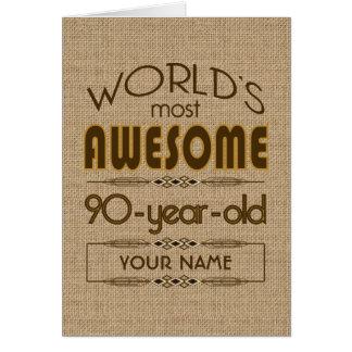 90th Birthday Celebration World Best Fabulous Greeting Card