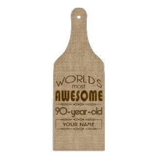 90th Birthday Celebration World Best Fabulous Cutting Board