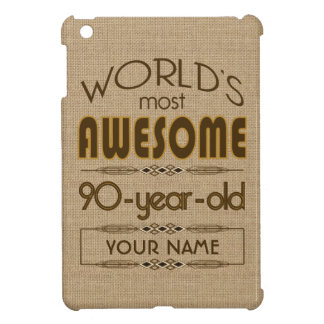 90th Birthday Celebration World Best Fabulous iPad Mini Covers