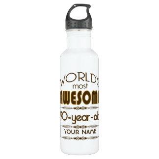 90th Birthday Celebration World Best Fabulous Water Bottle