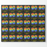 [ Thumbnail: 90th Birthday: Colorful Music Symbols, Rainbow 90 Wrapping Paper ]