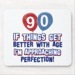 90th birthday designs mouse pad