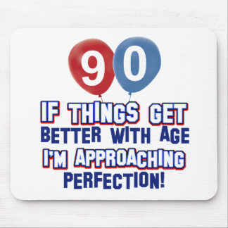 90th birthday designs mouse pads