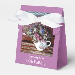 90th Birthday Favor Box, Vintage Teapot Favor Box
