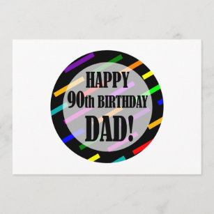 90th Birthday For Dad Card