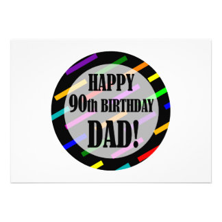 90th Birthday For Dad Custom Announcements